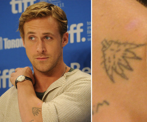 "Ryan Gosling told W magazine in 2010 of his various arm tattoos, ""I like when [tattoos] look bad, but no one will do bad tattoos. So I did one myself. That's why it's bad. I'm waiting to get old — I think old guys with tattoos look good."""