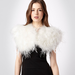 No. 1 by Jenny Packham Ivory Feather Stole ($162)