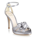 No. 1 by Jenny Packham Silver Rosebud Corsage Sandals ($97)