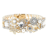 No. 1 by Jenny Packham Cream Diamante Flower Bracelet ($57)