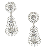 No. 1 by Jenny Packham Silver Diamante Teardrop Earrings ($57)