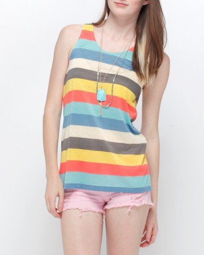 With bold stripes in retro hues, this lightweight tank is effortlessly cool.  Need Supply Co. Boardwalk Tank ($28)