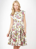 No. 1 by Jenny Packham Cream Floral Printed Evening Dress ($138)