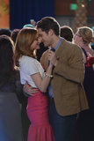 Jayma Mays and Matthew Morrison in Glee.  Photo courtesy of Fox