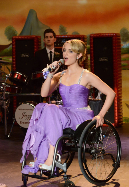 Dianna Agron in Glee.  Photo courtesy of Fox