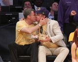 Will Ferrell and John C. Reilly gave Lakers fans a thrill when they were caught on the kiss cam.
