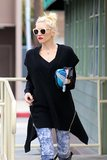 Gwen Stefani wore sunglasses and her signature red lipstick in LA.