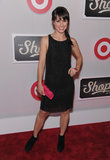 Constance Zimmer paired an LBD with a bold clutch at The Shops at Target launch party in NYC.