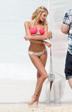 Bikini-Clad Candice Swanepoel Poses at the Beach
