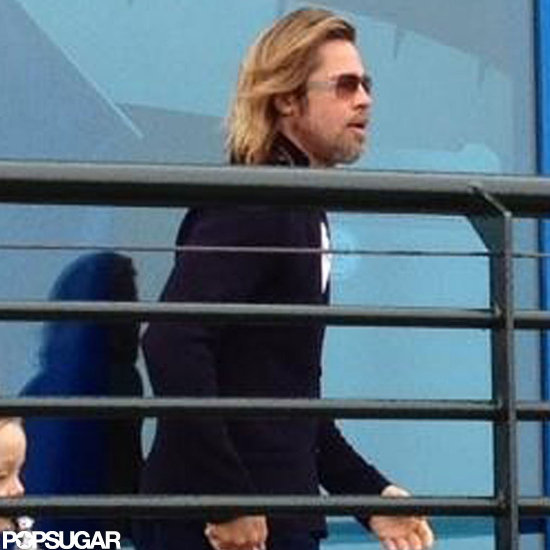 Brad Pitt Takes Knox Off For a Legoland Day
