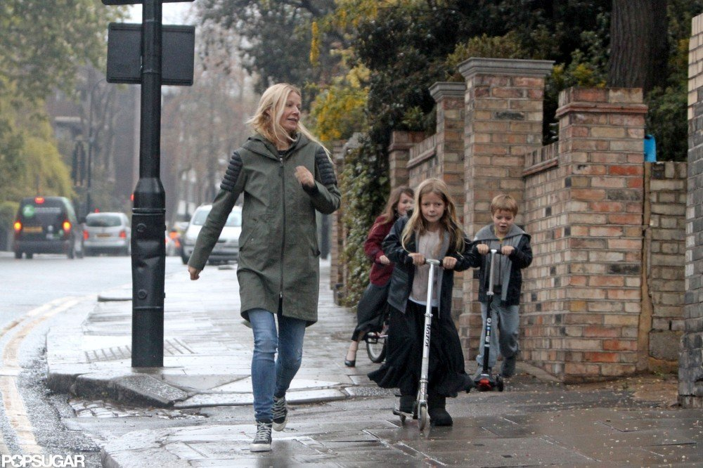 Gwyneth Paltrow was in London heading home with her kids.
