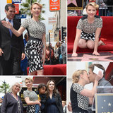 Scarlett Johansson Gets a Sweet Kiss and Her Own Star on Hollywood's Walk of Fame