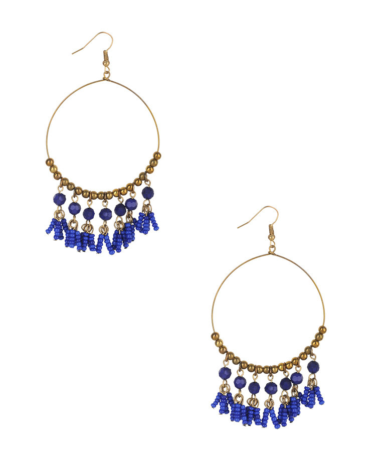Forever 21 Circular Fringe Earrings ($5)