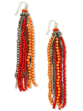 INC International Concepts Earrings in Coral Seed Bead Tassel ($30)