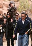 Shortly after his divorce, President Sarkozy traveled to Jordan with Carla Bruni and her son.