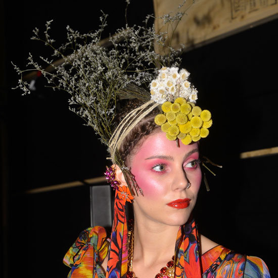 2012 MBFWA: Tribal Hair and Pink Eyes at Jenny Kee