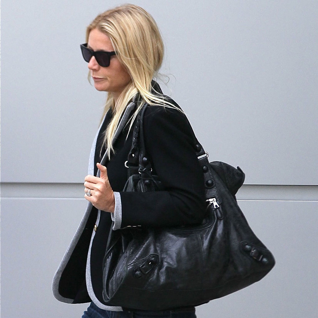Gwyneth Paltrow with a Balenciaga bag at LAX.