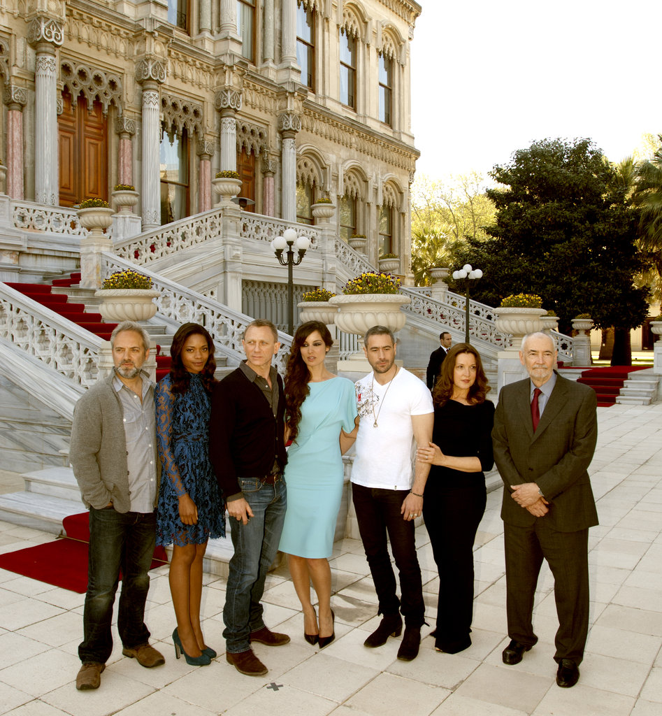 Director Sam Mendes, Naomie Harris, Daniel Craig, Bérénice Marlohe, Ola Rapace, Barbara Broccoli, and Michael G. Wilson got together for a Skyfall photocall in Istanbul.