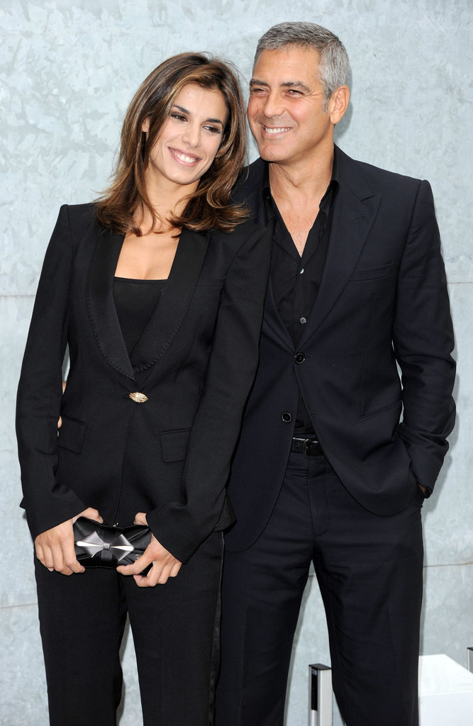 Elisabetta Canalis and George Clooney showed off their love in September 2010 during Milan Fashion Week.