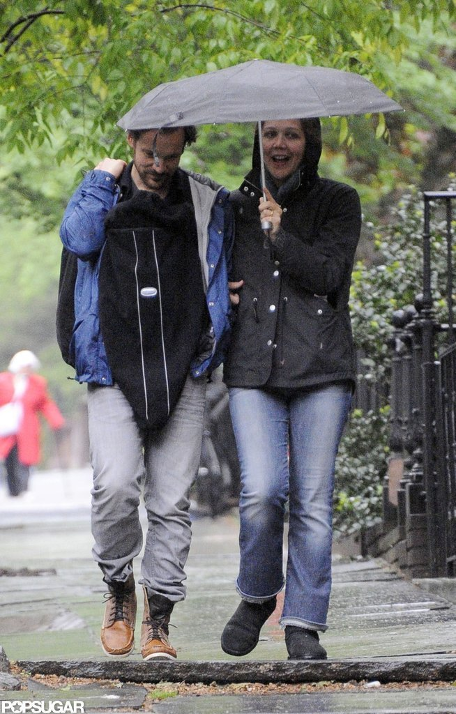 Maggie Gyllenhaal and Peter Sarsgaard walked with their second baby girl, Gloria Ray Sarsgaard.