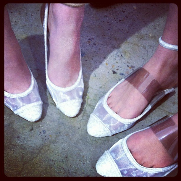 Who knew white perspex shoes could be so awesome? Zimmermann, that's who.