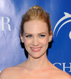 January Jones looked happy to attend a screening of La Revolution Bleue in NYC.