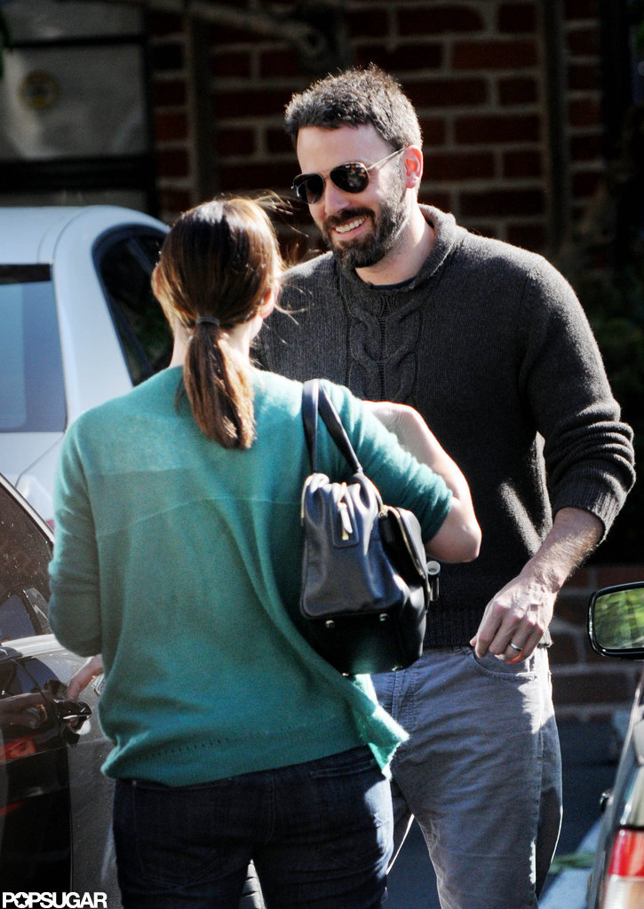 Ben Affleck showed he is a true gentleman as he opened the car door for wife Jennifer Garner in LA.
