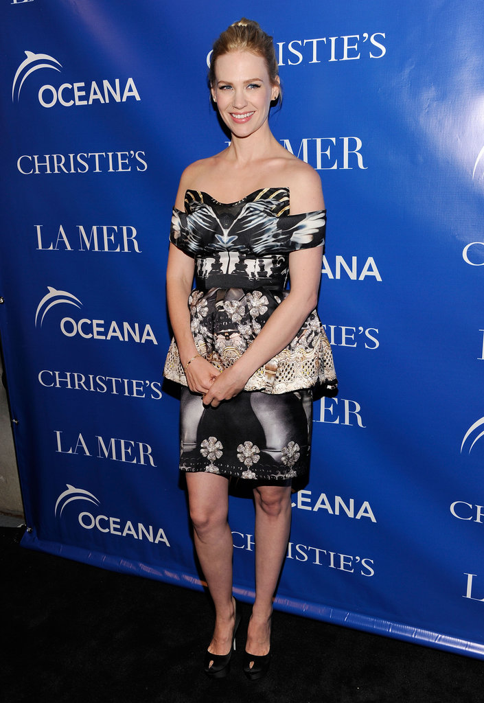 January Jones looked stunning in a Mary Katrantzou dress to a screening of La Revolution Bleue in NYC.