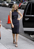 Chloe Moretz was modern-ladylike perfection in a fitted Christopher Kane sheath and Jimmy Choo sandals.