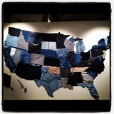The united states of denim — a totally awesome display at Gap's Fall preview.