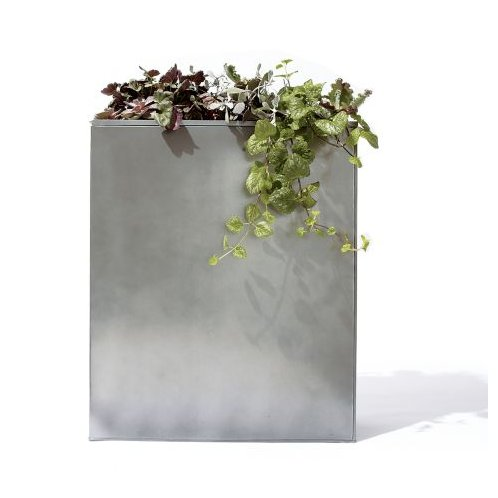 Incorporate a bit of industrial sleekness with this large Titan Galvanized Planter with Insert ($80).