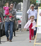 Ben Affleck took his daughters shopping in LA before Mother's Day.