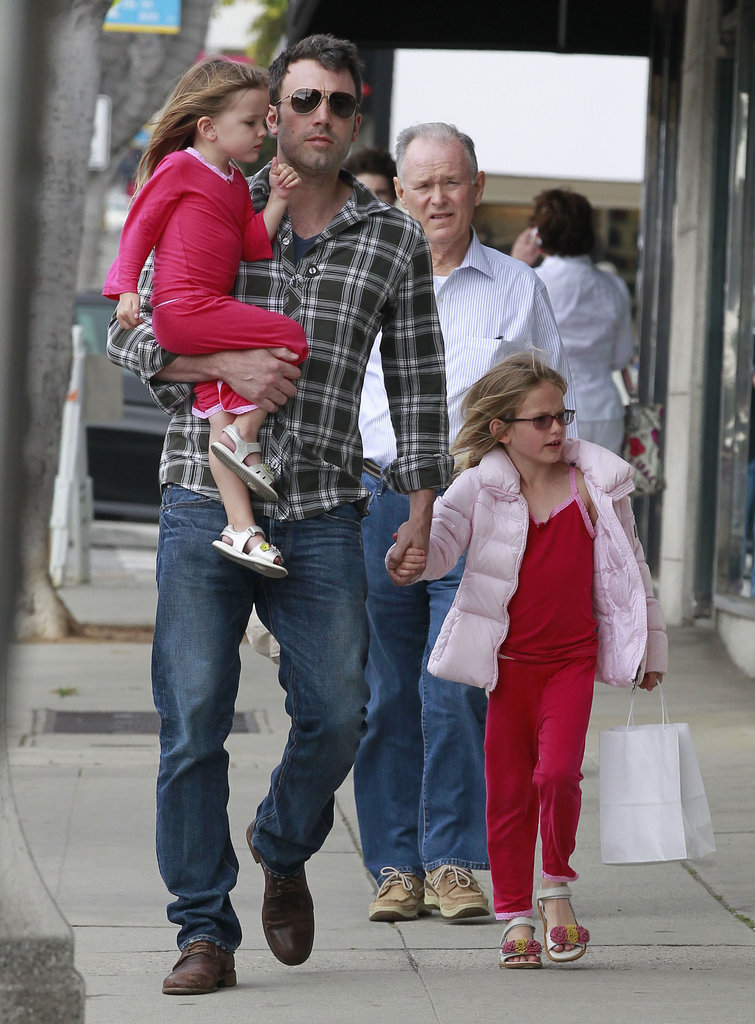 Ben Affleck had a shopping date with daughters Violet Affleck and Seraphina Affleck in LA to look for gifts for Mother's Day.