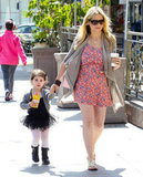 Sarah Michelle Gellar stopped for a coffee and a drink for her daughter Charlotte on the way to ballet class in LA.