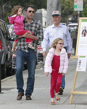 Ben Affleck hit the LA streets with Violet Affleck and Seraphina Affleck to shop for Mother's Day gifts.