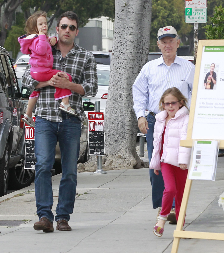 Ben Affleck was accompanied by wife Jennifer Garner's dad and his two girls for a shopping trip in LA.