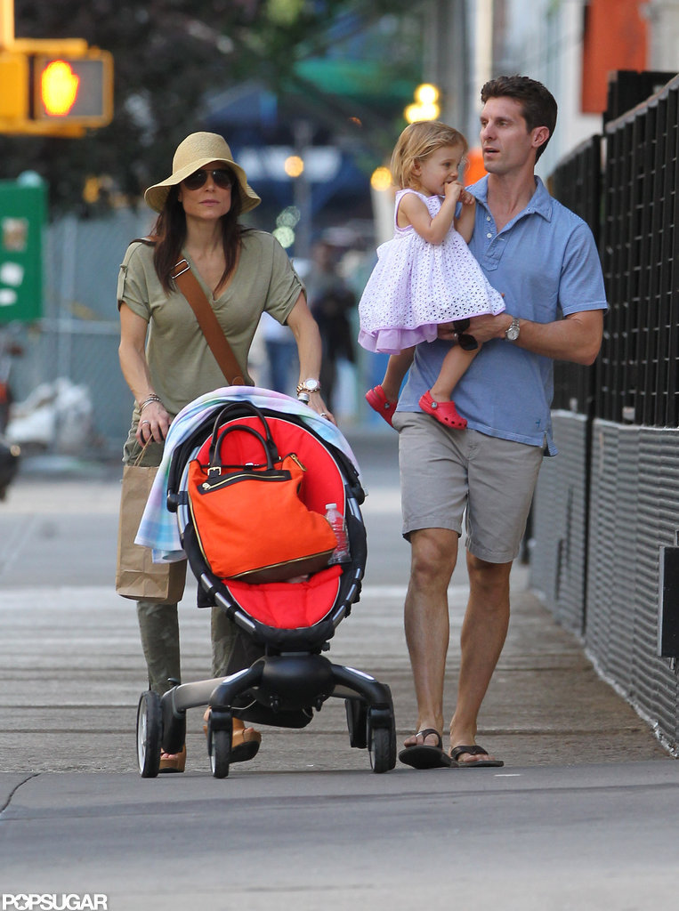 Bethenny Frankel strolled in NYC with husband Jason and daughter Bryn.