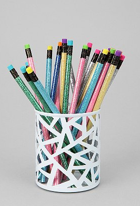 Geo Cutout Pencil Holder