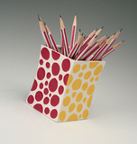 Polka-Dot Pencil Holder