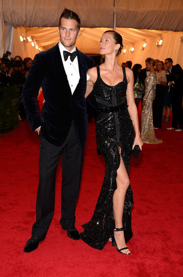 Gisele Bundchen gave husband Tom Brady a smile at the Met Gala.