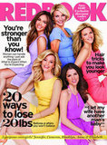 Cameron Diaz, Jennifer Lopez, Brooklyn Decker, Elizabeth Banks, and Anna Kendrick on the cover of June's Redbook.