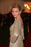Cameron Diaz showed off her backless Stella McCartney gown at the Met Gala.