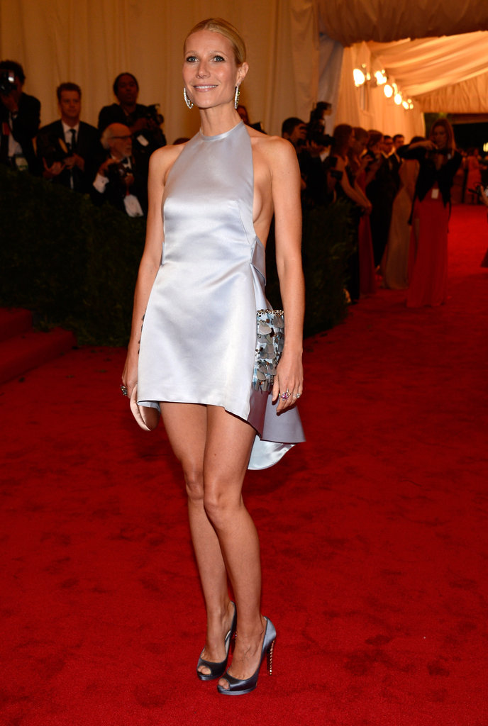 Gwyneth Paltrow looked stunning in a silk Prada dress on the red carpet at the Met Gala.
