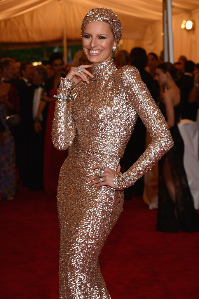 Karolina Kurkova wore Rachel Zoe for the Met Gala.