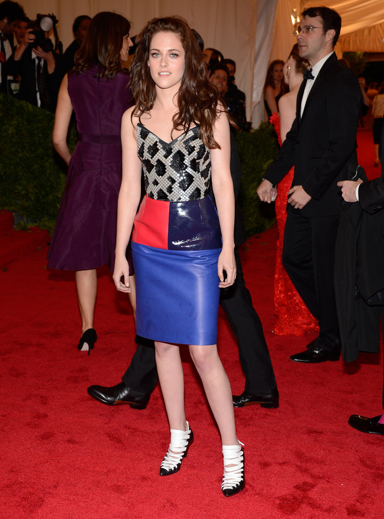 Kristen Stewart in Balenciaga at the Met Gala.