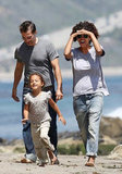 Halle Berry and Olivier Martinez were on the beach in Malibu with Nahla.