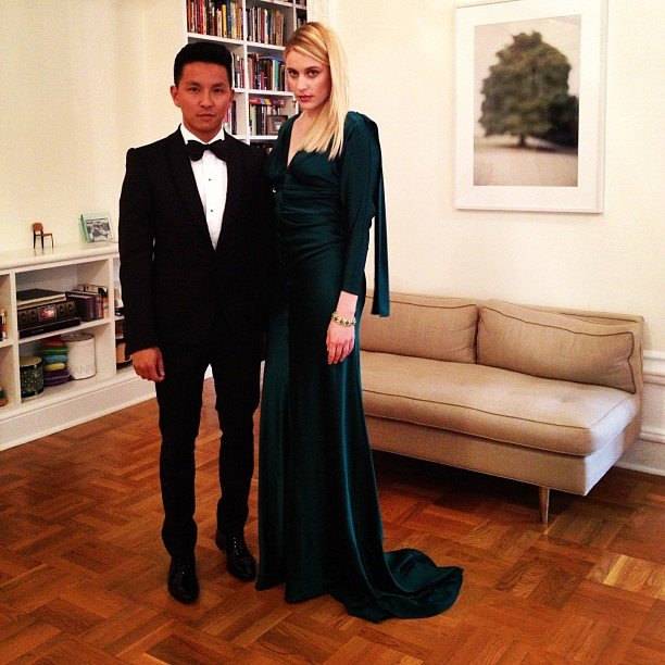 Prabal Gurung escorted Greta Gerwig. Source: Instagram User prabalgurung