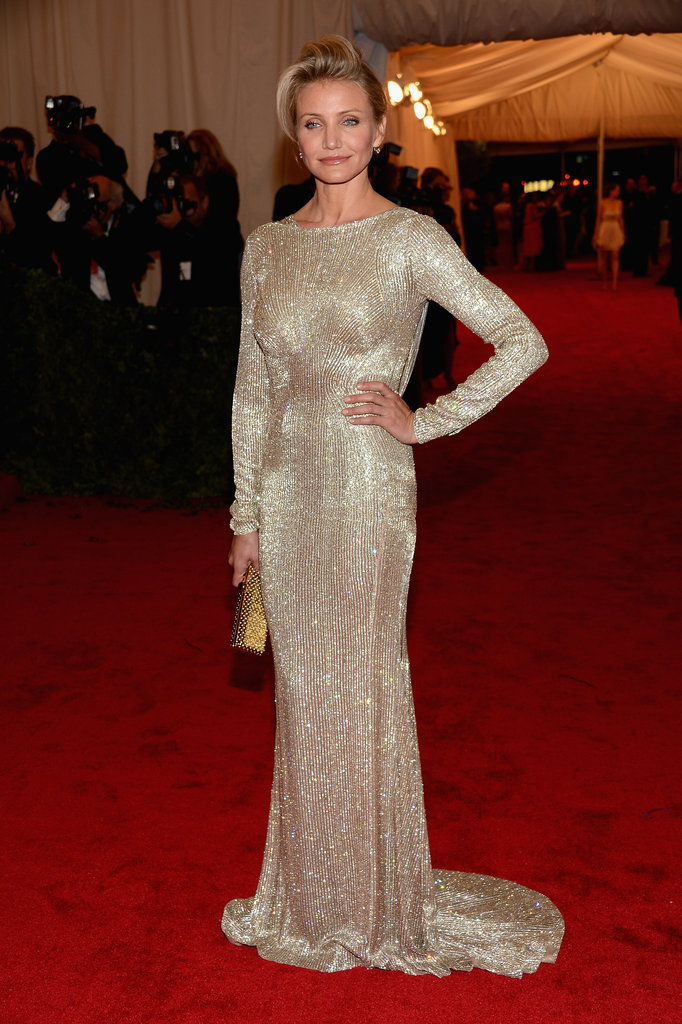 Cameron Diaz's Stella McCartney dress sparkled at the Met Gala.
