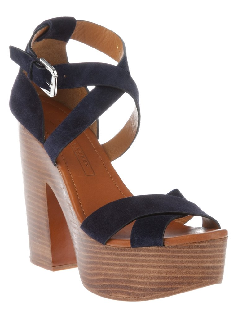 These Ralph Lauren heels are equal parts preppy and tribal.  Ralph Lauren Alannah Sandal ($549)