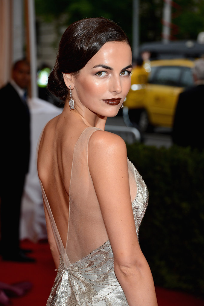 Camilla Belle's Ralph Lauren dress.